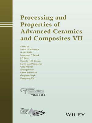 cover image of Processing and Properties of Advanced Ceramics and Composites VII